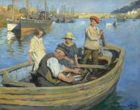 Stanhope Forbes, The Fishermen's Expedition (1923)