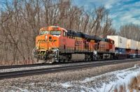 BNSF # 6161 Pulling Through in 600 Pieces