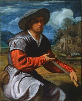Girolamo Savoldo (Italian, ca 1480–1548), Shepherd with a Flute (ca 1525)
