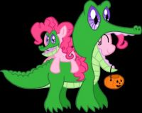 pinkie pie and gummy :3