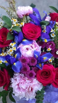 Happiness is….Brightly Coloured Mixed Bunch of Flowers.
