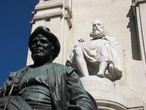 Madrid: Sancho Panza and Miguel de Cervantes Saavedra
