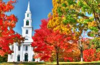 Country Church among the Foliage
