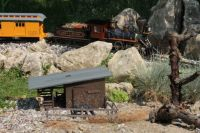 Backyard railway scene