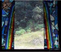Glass mosaic for door