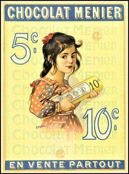 Themes Vintage ads - Chocolat Menier