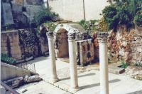 A91, Portion of the Cardo, the main street in ancient Jerusalem, Old Walled City, Jerusalem, 1994 Israel trip