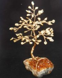 Citrine gemtree on a Citrine crystal base