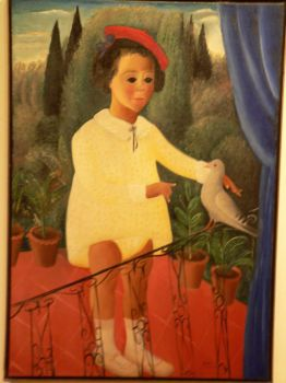 Young boy with dove by Israeli artist Reuven Rubin, see below for comments