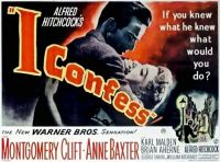 I CONFESS - 1953 MOVIE POSTER  MONTGOMERY CLIFT, ANNE BAXTER