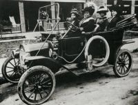 Madam C J Walker driving automobile