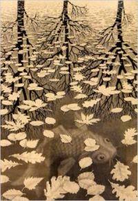 """""""Three Worlds"""" by M.C. Escher"""