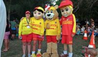 Four of Australia's famous bronzed surf life savers!