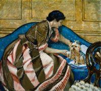 Frederic Clay Bartlett (American, 1873–1953), Mrs. Bartlett with a Dog (1931)