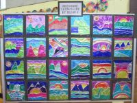 School Art Display