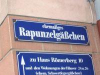 Street sign in Frankfurt, Germany