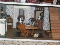 the Bird Carvers dollhouse  close up of studio