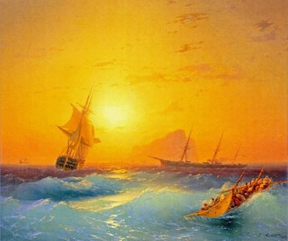 """American Shipping off Gibraltar"" by Ivan Aivazovsky"