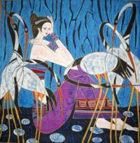 Woman with Storks