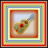 Theme - Music  Mini Mosaics  Musical Instruments Brooches