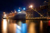 M/V Michipicoten docking at Marquette, MI.
