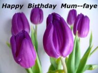 Hope you have a very Happy Birthday Mum--Faye