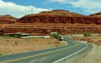 Approaching Mexican Hat, Utah On The San Juan River