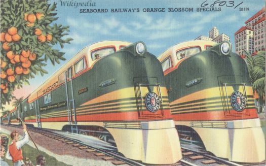 Seaboard_Railways_Orange_Blossom_Specials_postcard