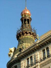 Beautiful Bell Tower in Madrid, Spain