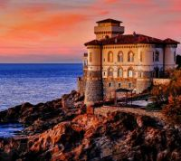 Castello del Boccale at Sunset --Tuscany, Italy