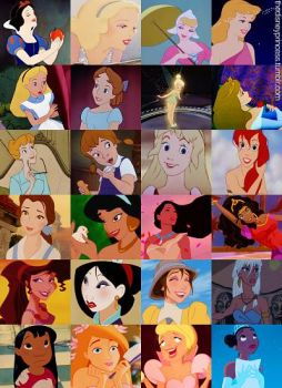 Disney Girls Throughout Time