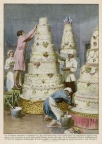 Themes Vintage illustrations/pictures - wedding cakes