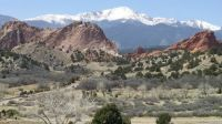 Mt Cheyenne as seen from the Garden of the Gods
