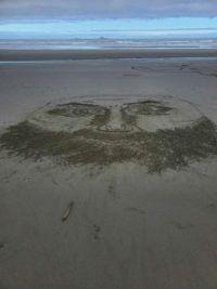 Sand Art Face