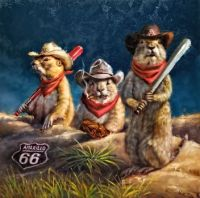 """Amarillo Sod Poodles"" by Lucia Heffernan"