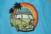 Vintage Bus on my sons clothing... Love it! :-))