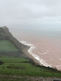 View down the Cliff at Sidmouth, England