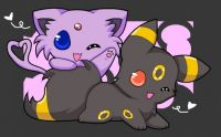 cute espreon and umbreon <3