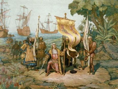 Christopher Columbus Landing
