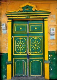 Green and Yellow Entrance