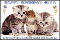 HAPPY BIRTHDAY  OLYA