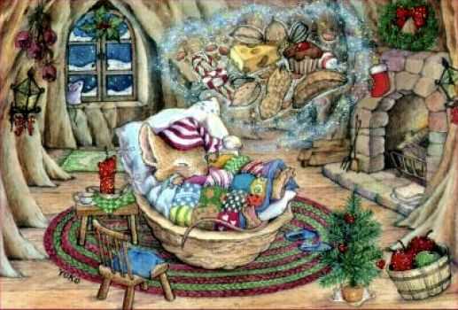 Image result for mouse asleep christmas""