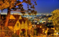 Night view, San Francisco, California