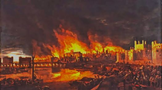 GREAT FIRE OF LONDON - 1666