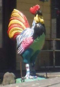 Chicken statue at Winlock, Washington, USA