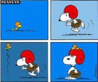 Snoopy and WoodStocks' Football Game
