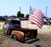 Old truck and Old Glory