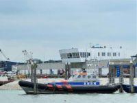Ship of KNRM (Koninklijke Nederlandse Redding Maatschappij) in the harbour of Stellendam