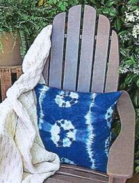 Blue Restful Tie - Dye Pillow