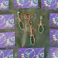 malachite beads in copper